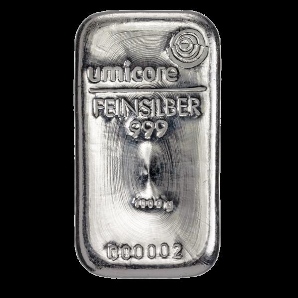 BTW-vrij zilver: 1 kilo zilverbaar