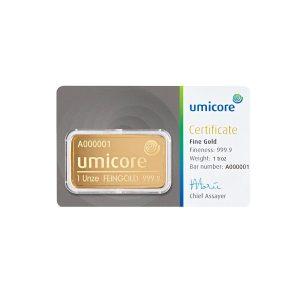 1 troy ounce goud kopen Umicore
