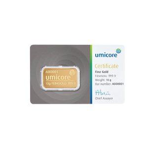 10 gram goud kopen Umicore