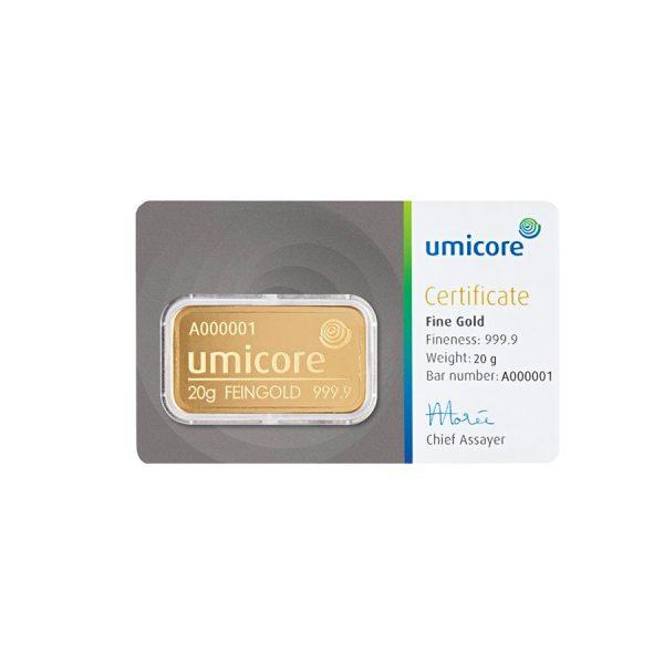 20 gram goud kopen Umicore