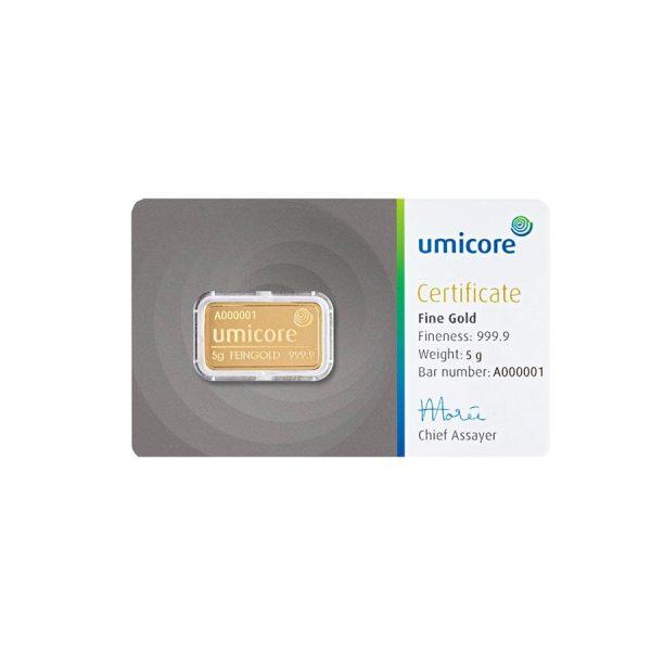 5 gram goud kopen Umicore