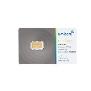 1 gram goud kopen Umicore