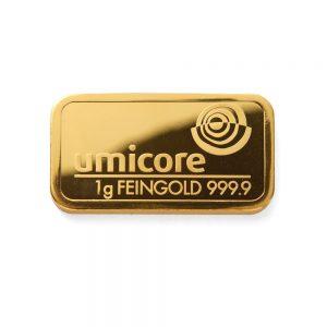 De Umicore 1 gram goudbaar