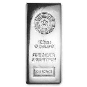 BTW-vrij zilver: 100 troy ounce zilverbaar