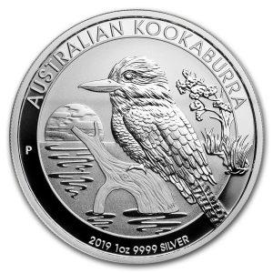 Kookaburra 1 troy ounce zilveren munt 2019