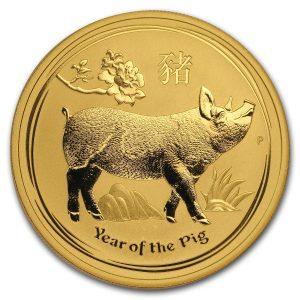 Lunar Pig 1 troy ounce gouden munt 2019