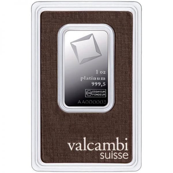 Valcambi 1 troy ounce platina baar