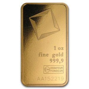 Valcambi 1 troy ounce goudbaar