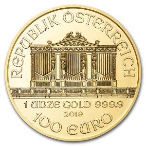 Philharmoniker 1 troy ounce gouden munt 2019