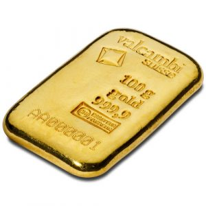 Valcambi 100 gram goudbaar